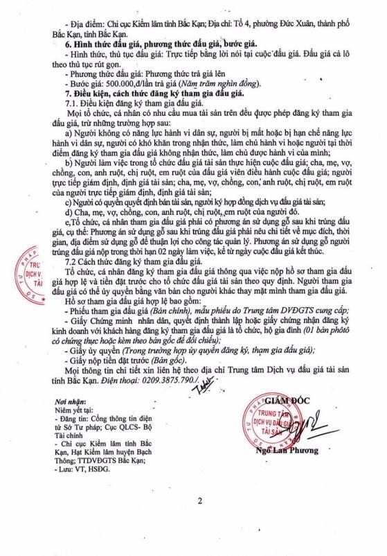 Ngày 27/12/2018, đấu giá tang vật vi phạm hành chính tại tỉnh Bắc Kạn - ảnh 2