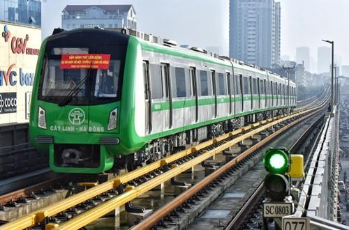 Tuyến đường sắt Cát Linh - Hà Đông đang trong giai đoạn chạy thử.