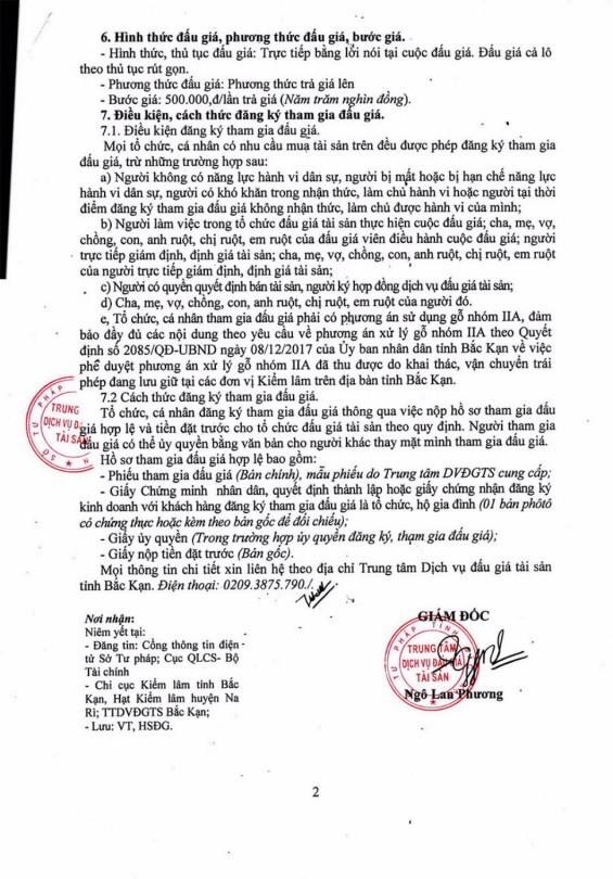 Ngày 28/12/2018, đấu giá tang vật tịch thu sung công quỹ tại tỉnh Bắc Kạn - ảnh 2
