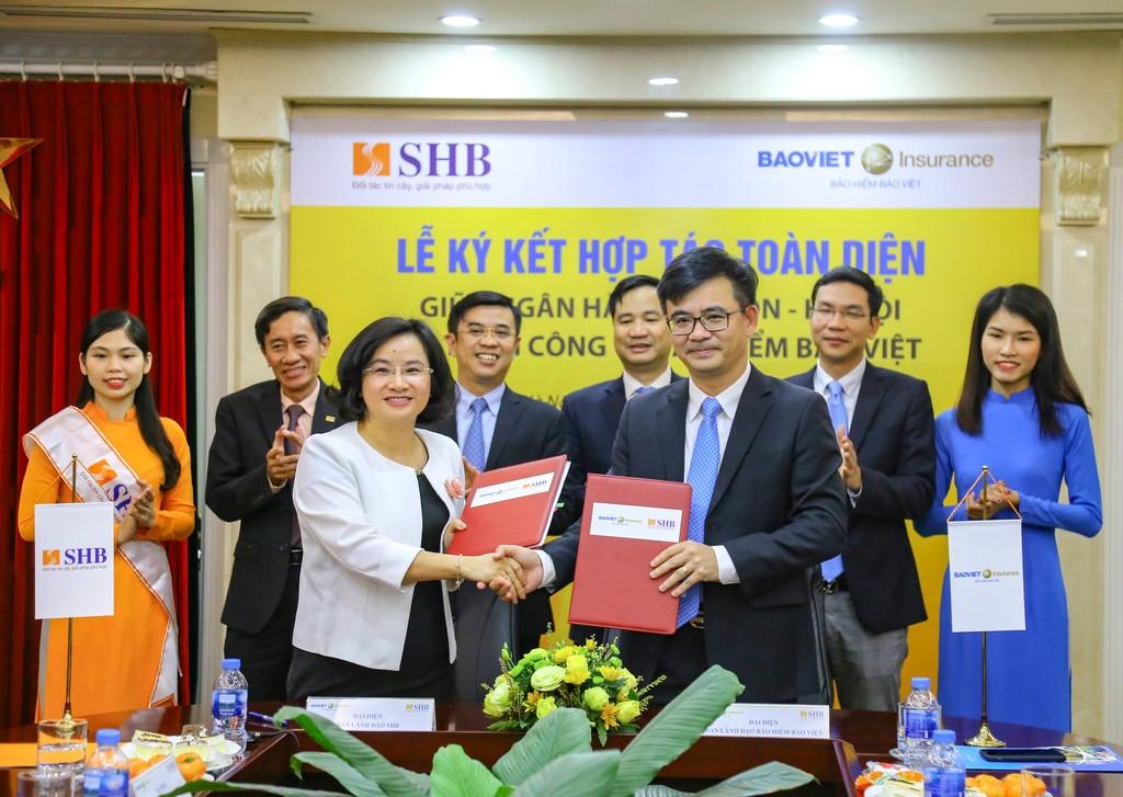 Tổng công ty Bảo hiểm Bảo Việt (Bảo hiểm Bảo Việt) và Ngân hàng Sài Gòn - Hà Nội (SHB) lễ ký hợp tác toàn diện