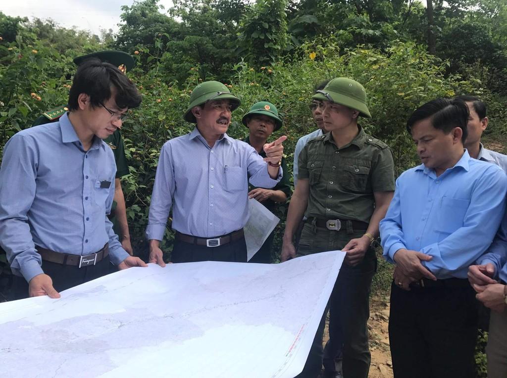 Lãnh đạo tỉnh Quảng Trị khảo sát thực địa vị trí nghiên cứu các dự án Thủy điện Hướng Sơn, huyện Hướng Hóa. Ảnh minh họa: Internet