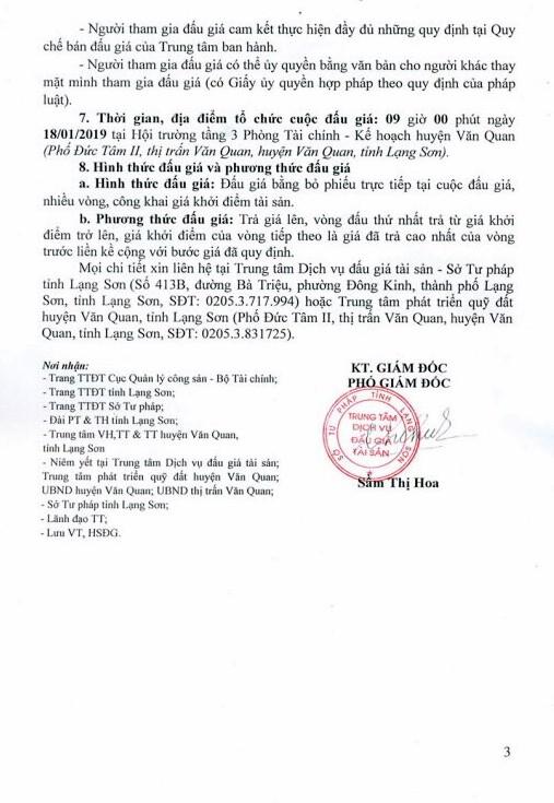Ngày 18/1/2019, đấu giá quyền sử dụng đất tại huyện Văn Quan, tỉnh Lạng Sơn - ảnh 3