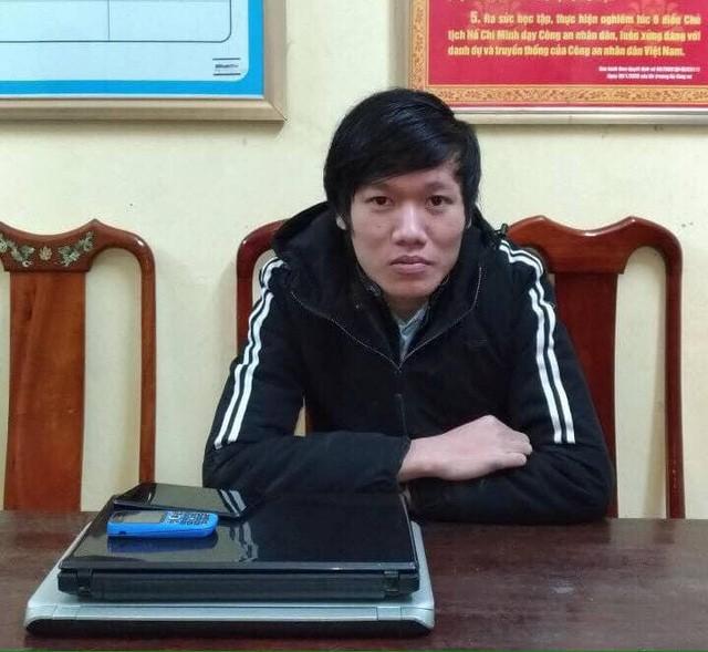 Đối tượng Trần Kim Hùng tại cơ quan điều tra