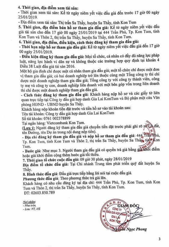 Ngày 28/1/2019, đấu giá quyền sử dụng 37 lô đất tại huyện Sa Thầy, tỉnh Kon Tum - ảnh 3