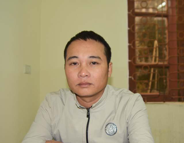 Đối tượng Nguyễn Trung Tính tại cơ quan cảnh sát điều tra Công an tỉnh Nghệ An