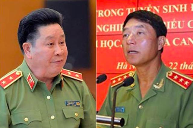 """Hai cựu Thứ trưởng Bùi Văn Thành (trái) và Trần Việt Tân bị cáo buộc đã giúp sức Vũ """"nhôm"""" thâu tóm đất công sản gây thiệt hại cho Nhà nước hàng nghìn tỉ đồng."""