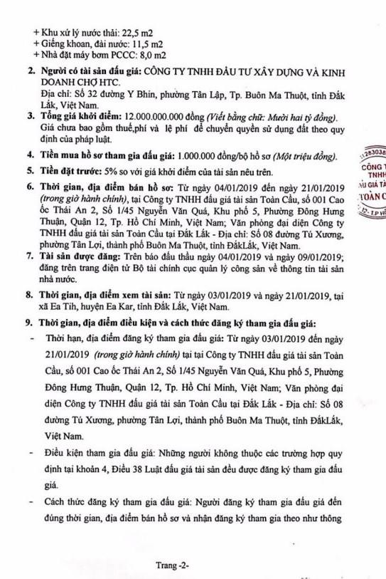 Ngày 24/01/2019, đấu giá quyền sử dụng đất tại huyện Ea Kar, tỉnh Đắk Lắk - ảnh 2