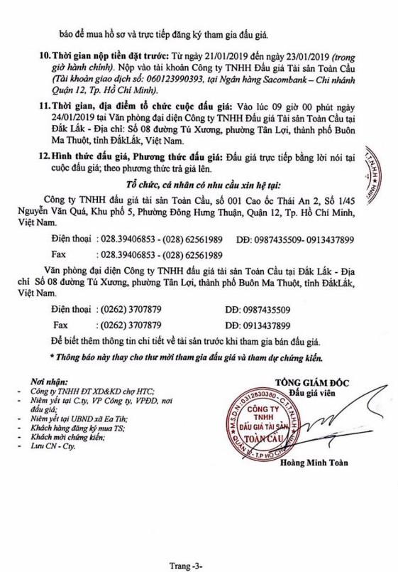 Ngày 24/01/2019, đấu giá quyền sử dụng đất tại huyện Ea Kar, tỉnh Đắk Lắk - ảnh 3