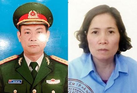 Đối tượng Hoa Hữu Long và vợ là Cao Thị Kim Loan.