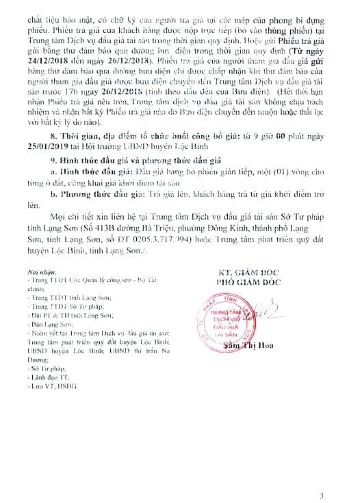 Ngày 25/01/2019, đấu giá quyền sử dụng 30 lô đất tại huyện Lộc Bình, tỉnh Lạng Sơn - ảnh 3