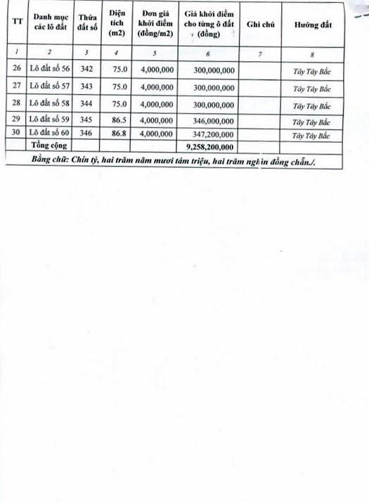 Ngày 25/01/2019, đấu giá quyền sử dụng 30 lô đất tại huyện Lộc Bình, tỉnh Lạng Sơn - ảnh 5