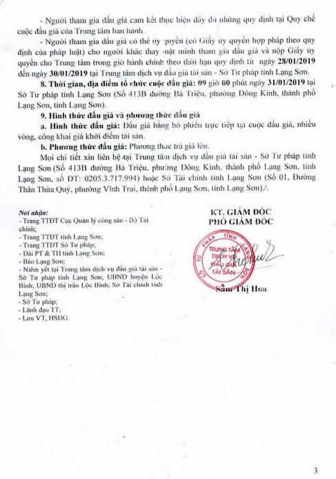 Ngày 31/01/2019, đấu giá quyền sử dụng đất và tài sản gắn liền với đất tại huyện Lộc Bình, tỉnh Lạng Sơn - ảnh 3
