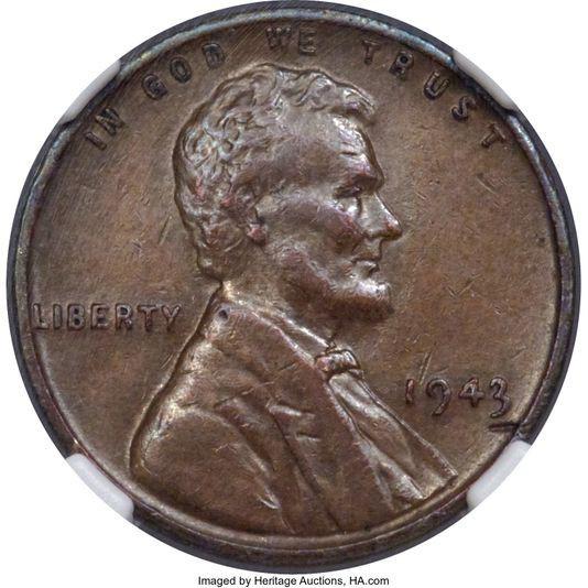 Đồng xu bằng đồng từ năm 1943 là đồng tiền lỗi nổi tiếng nhất của Mỹ. (Nguồn: Heritage Auctions)
