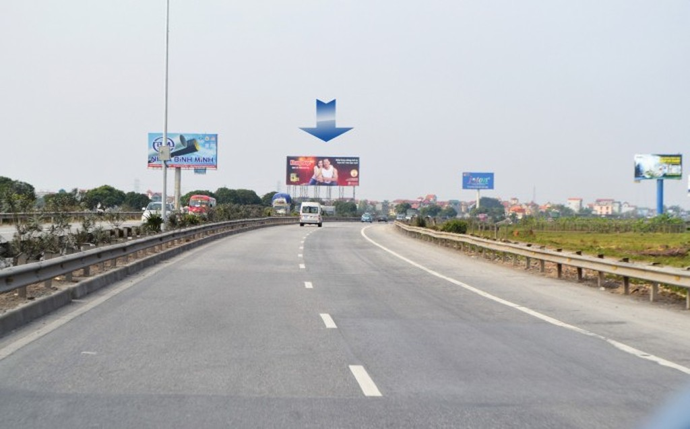 Một đoạn đường cao tốc Cầu Giẽ - Ninh Bình.