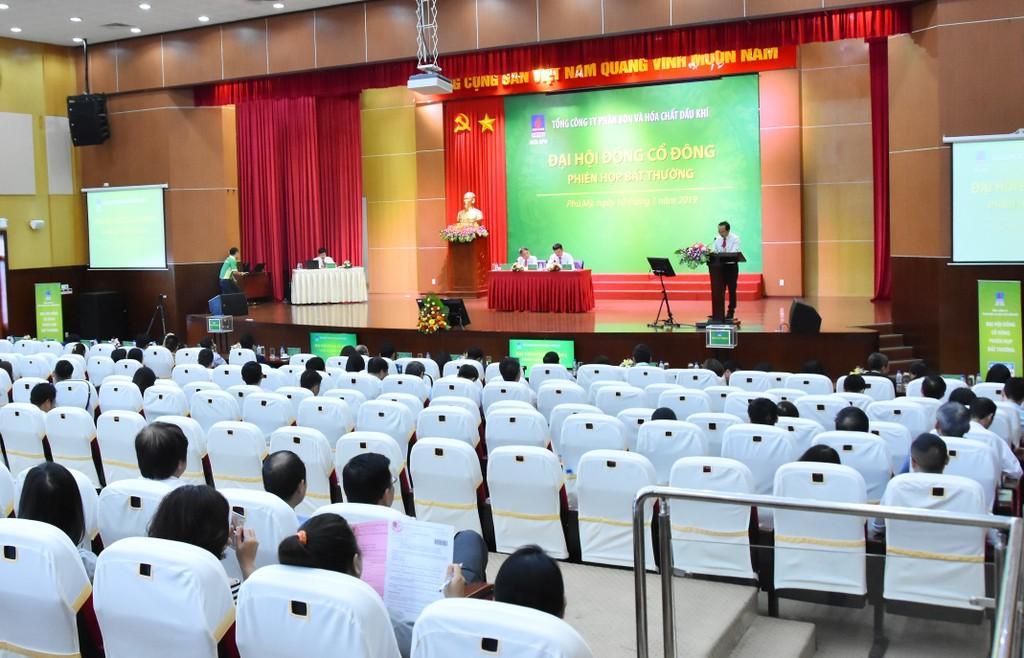 Phiên họp bất thường năm 2019 của Đại hội đồng Cổ đông PVFCCo