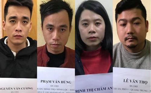 Phạm Văn Hùng cùng nhóm đồng phạm. Ảnh: Công an cung cấp.