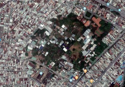 Khu vực vườn rau Lộc Hưng màu xanh. Ảnh: Google Map.