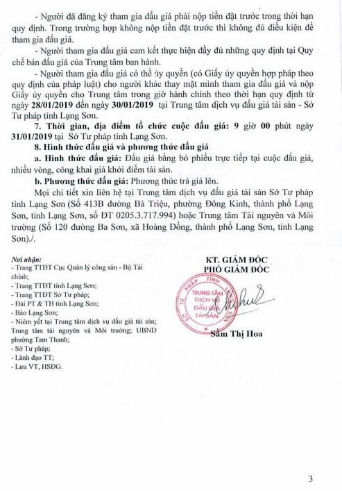 Ngày 31/01/2019, đấu giá quyền sử dụng đất tại thành phố Lạng Sơn, tỉnh Lạng Sơn - ảnh 3
