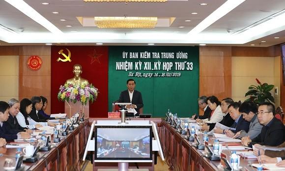 Ủy ban Kiểm tra Trung ương thông báo Kỳ họp 33