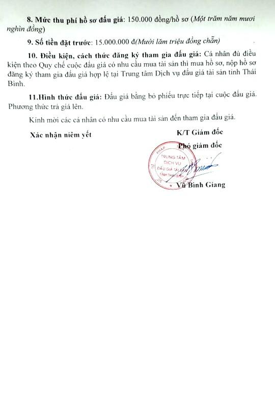 Ngày 31/01/2019, đấu giá xe ô tô tại tỉnh Thái Bình - ảnh 2