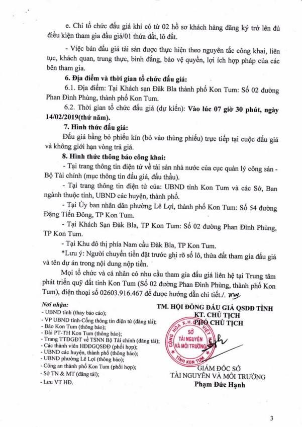 Ngày 14/02/2019, đấu giá quyền sử dụng đất tại thành phố Kon Tum, tỉnh Kon Tum - ảnh 3