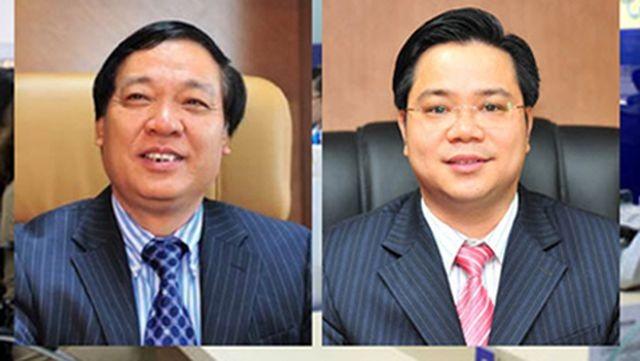 Tạ Bá Long, nguyên Chủ tịch HĐQT GPBank (trái) và Đỗ Trung Thành, nguyên Phó Tổng giám đốc GPBank.