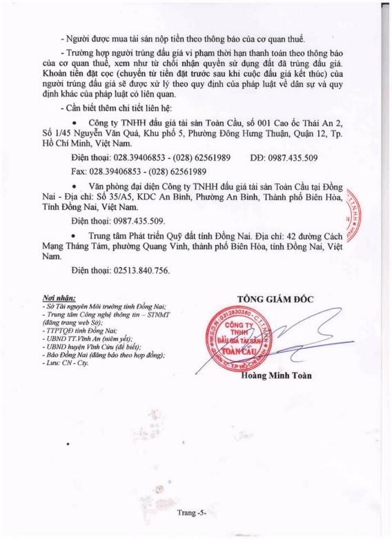 Ngày 28/2/2019, đấu giá quyền sử dụng đất tại huyện Vĩnh Cửu, tỉnh Đồng Nai - ảnh 5
