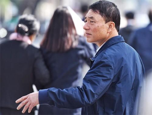 Cựu thứ trưởng Trần Việt Tân tại TAND Hà Nội.