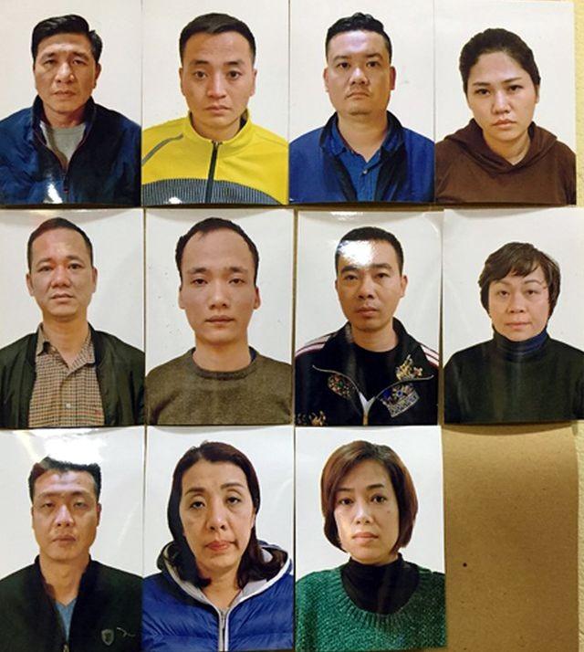 Các đối tượng trong ổ nhóm bị bắt giữ.