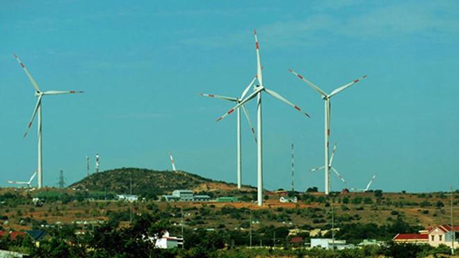 Một dự án điện gió tại huyện Tuy Phong, tỉnh Bình Thuận
