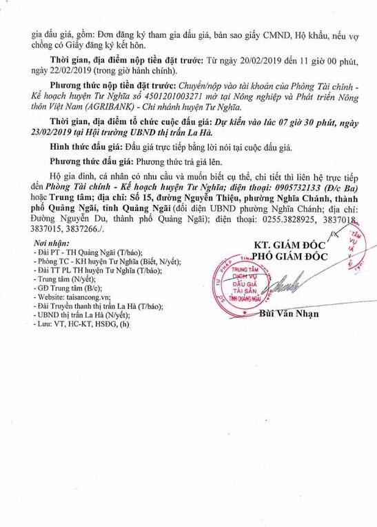 Ngày 23/2/2019, đấu giá quyền sử dụng 16 lô đất tại huyện Tư Nghĩa, tỉnh Quảng Ngãi - ảnh 3