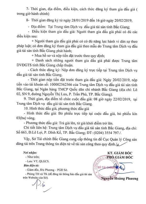Ngày 22/2/2019, đấu giá xe ô tô Bentley tại tỉnh Bắc Giang - ảnh 2