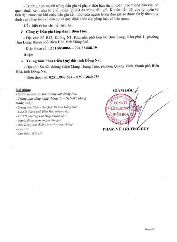 Ngày 28/2/2019, đấu giá quyền sử dụng đất tại thành phố Biên Hòa, tỉnh Đồng Nai - ảnh 4