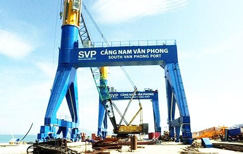 Cảng tổng hợp Nam Vân Phong. Ảnh: Báo Khánh Hòa.