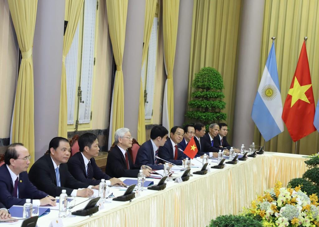 Tổng Bí thư, Chủ tịch nước Nguyễn Phú Trọng hội đàm với Tổng thống Argentina - ảnh 1