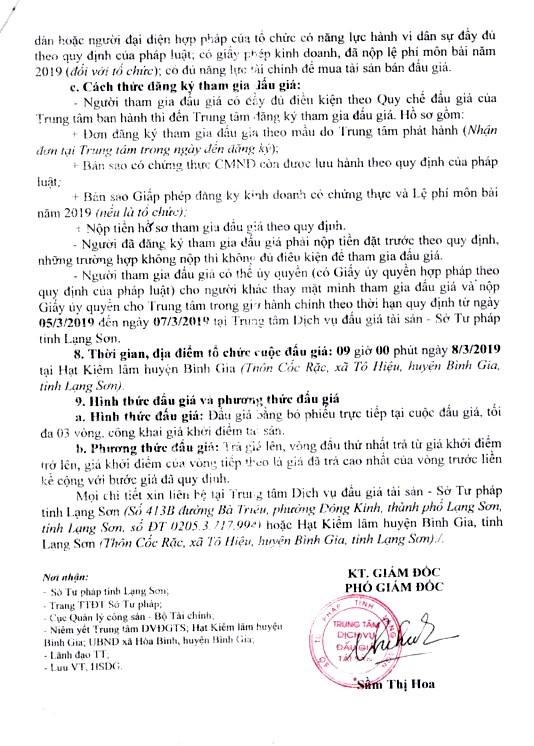 Ngày 8/3/2019, đấu giá tài sản tang vật tịch thu tại tỉnh Lạng Sơn - ảnh 2
