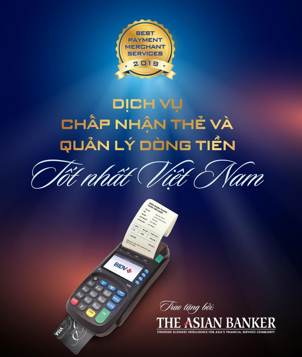 """BIDV nhận giải thưởng """"Ngân hàng có dịch vụ chấp nhận thẻ và quản lý dòng tiền tốt nhất Việt Nam 2019"""" - ảnh 1"""