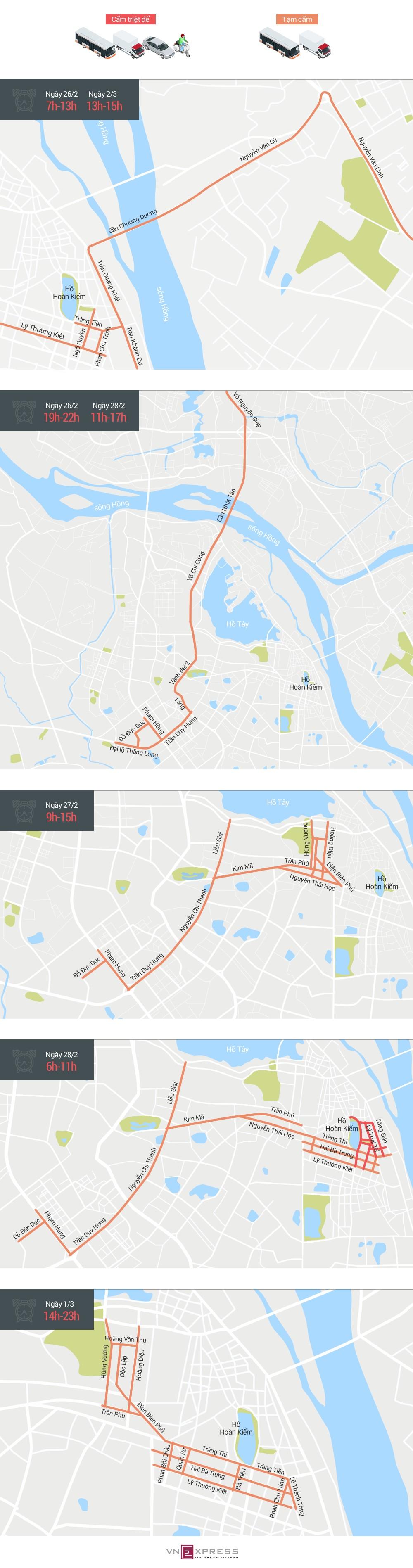Bản đồ cấm đường dịp hội nghị thượng đỉnh Mỹ - Triều - ảnh 1