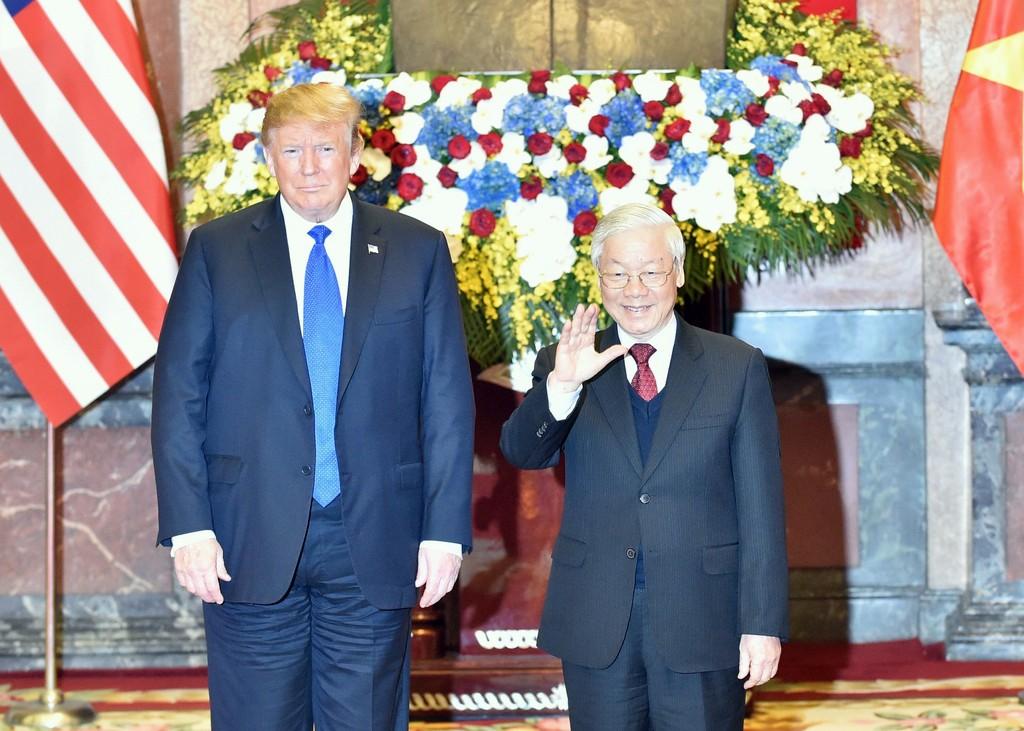 Tổng Bí thư, Chủ tịch nước Nguyễn Phú Trọng tiếp Tổng thống Donald Trump - ảnh 1