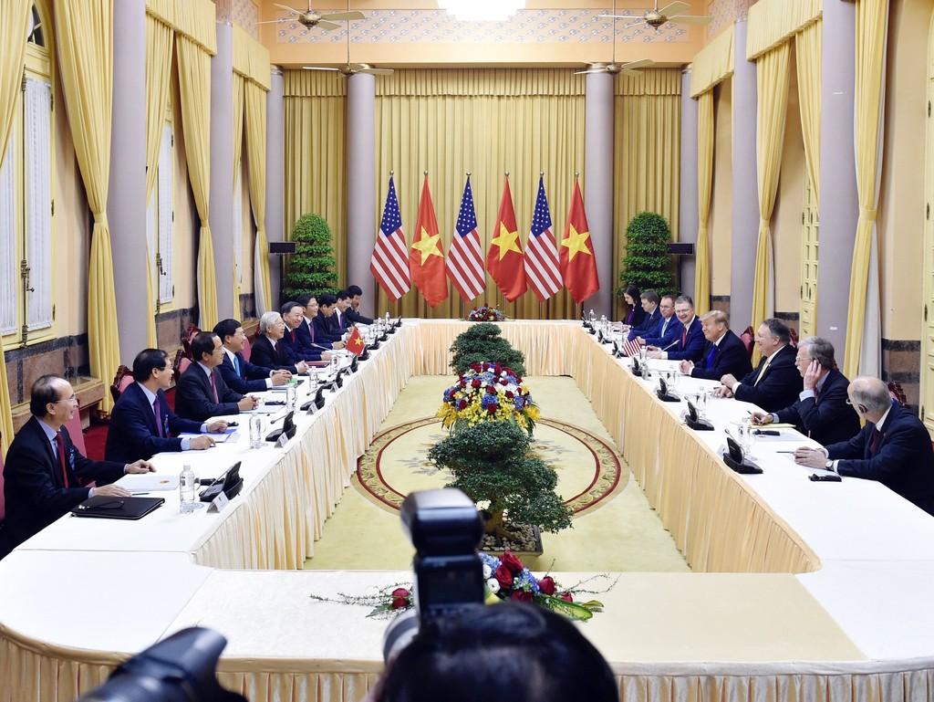 Tổng Bí thư, Chủ tịch nước Nguyễn Phú Trọng tiếp Tổng thống Donald Trump - ảnh 2