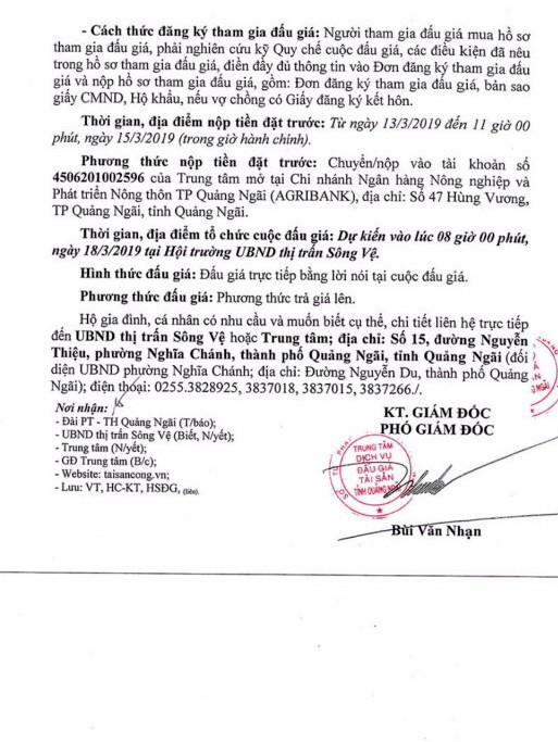 Ngày 18/3/2019, đấu giá quyền sử dụng đất tại huyện Tư Nghĩa, tỉnh Quảng Ngãi - ảnh 3