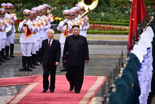 Lễ đón Chủ tịch Triều Tiên Kim Jong-un tại Phủ Chủ tịch - ảnh 1