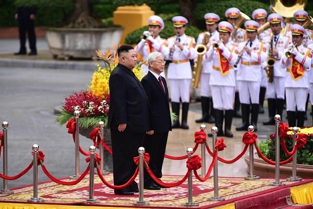 Lễ đón Chủ tịch Triều Tiên Kim Jong-un tại Phủ Chủ tịch - ảnh 2