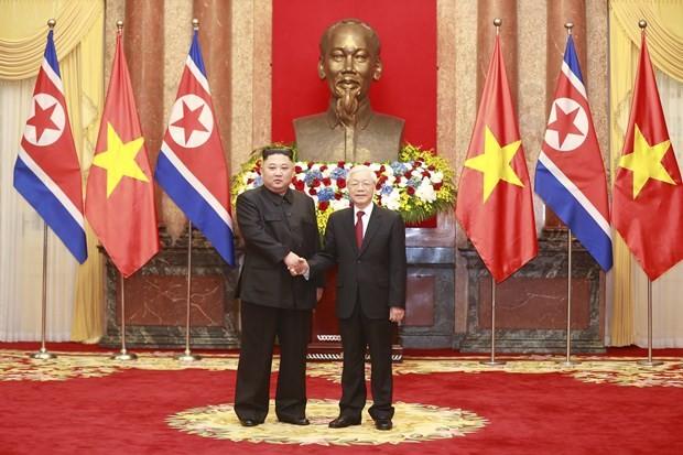 Lễ đón Chủ tịch Triều Tiên Kim Jong-un tại Phủ Chủ tịch - ảnh 3