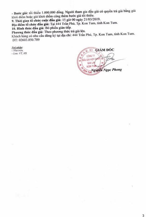 Ngày 21/3/2019, đấu giá vật chứng bị tịch thu sung công quỹ tại tỉnh Kon Tum - ảnh 2