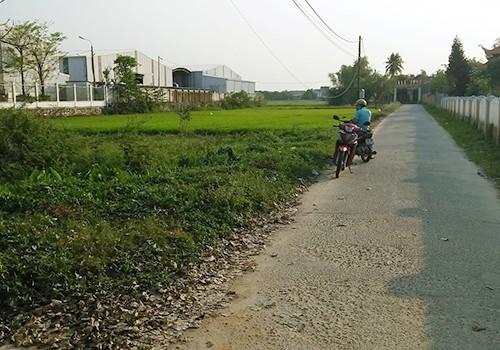 Nhiều khu đất đường bê tông ở xã Hoà Phong cũng được hô giá lên cả tỷ đồng. Ảnh: N.T.
