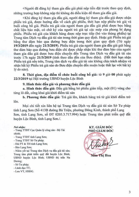 Ngày 22/3/2019, đấu giá quyền sử dụng đất tại huyện Lộc Bình, tỉnh Lạng Sơn - ảnh 3