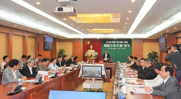 Ủy ban Kiểm tra Trung ương thông báo kỳ họp 34