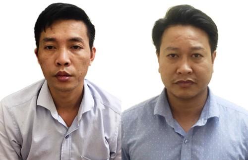 Bị can Khắc Tuấn (trái) và Mạnh Tuấn. Ảnh: Công an nhân dân