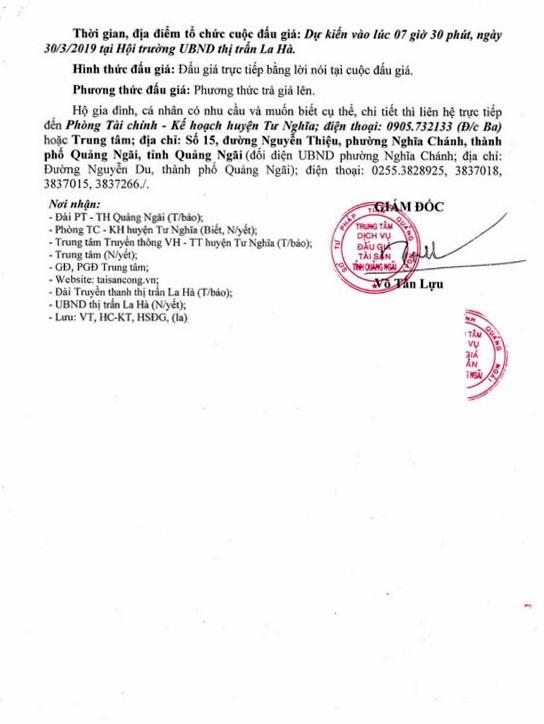 Ngày 30/3/2019, đấu giá quyền sử dụng 37 lô đất tại huyện Tư Nghĩa, tỉnh Quảng Ngãi - ảnh 3